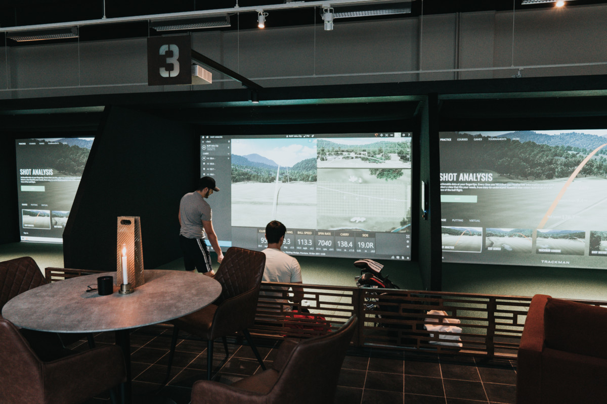 RUFF Indoor Golf Simlutaorer på Scandic Infra CIty